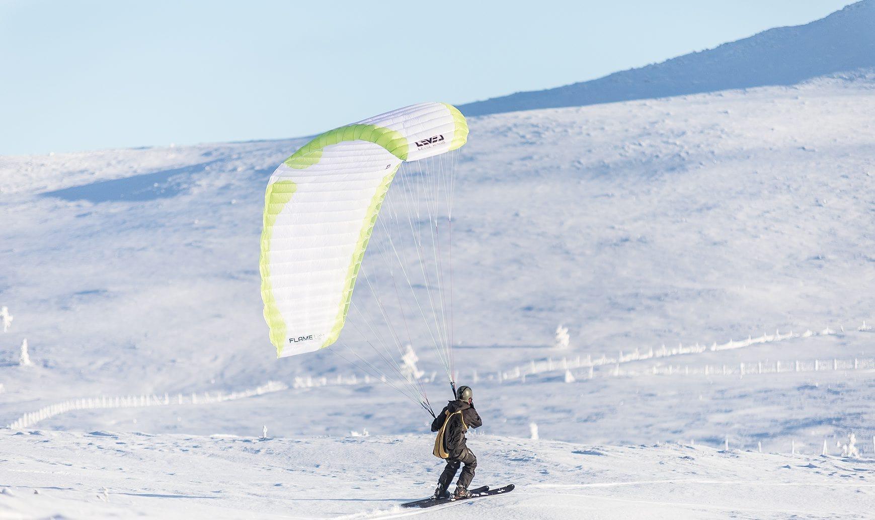 speedriding-pallas-nature-kiteweek-lapland